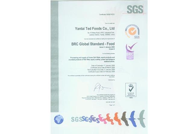 BRC GLOBAL STANDARD-FOOD